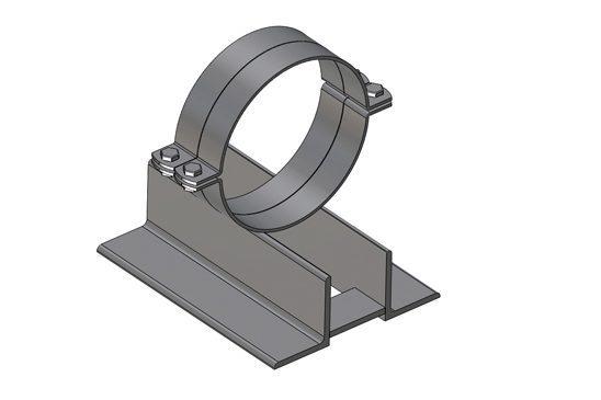 Podpory rurociągów - element bazowy