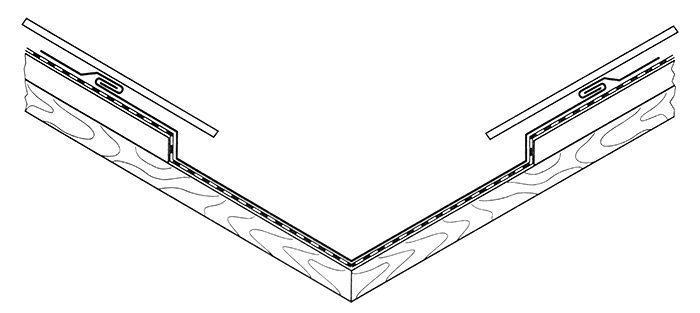 Kosz dachu krytego metalem