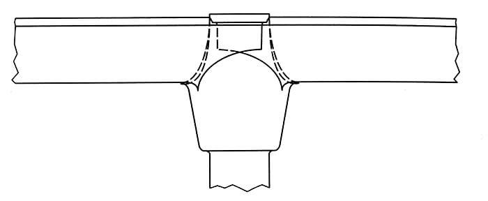 Połączenie rynny z rurą spustową za pomocą lejka