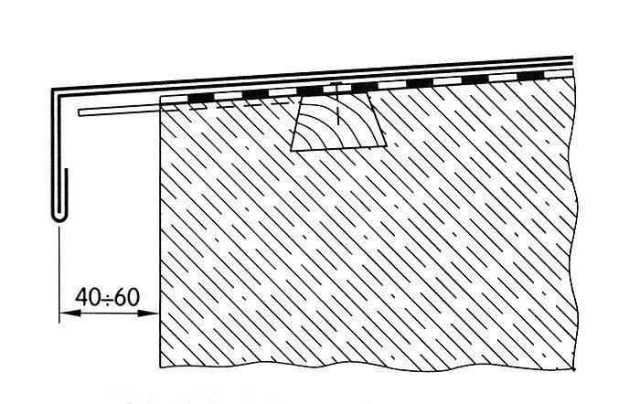 Przykład przykrycia muru